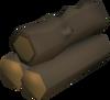 Windswept logs detail