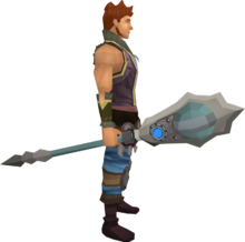 Augmented chaotic staff equipped
