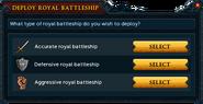 Deploy royal battleship interface