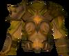 Golden warpriest of Saradomin cuirass detail