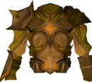 Golden warpriest of Saradomin cuirass