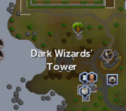 Dark Wizards' Tower map