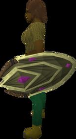 Wildercress shield equipped