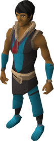 Blood amulet of fury equipped