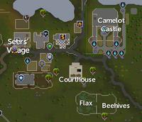 Seers' Village map
