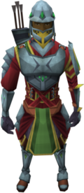 Skirmisher set equipped