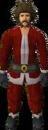Santa costume (male) equipped