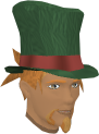 Top hat (green) chathead