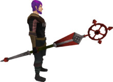 Ancient staff (red) equipped