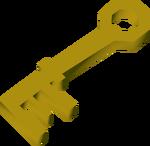 Grimy key detail