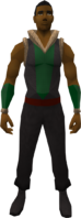 Retro wolf-fur vest