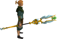 Armadyl battlestaff equipped