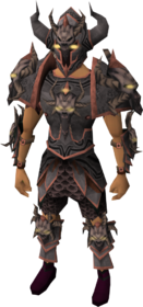 Malevolent armour set equipped