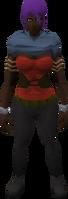 Retro half-corset and cowl