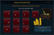 Bank PIN interface