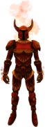 Fire warrior set equipped