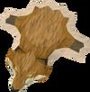 Fox pelt detail