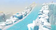 Iceberg snowboard slope