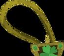 Sparkling four-leaf clover necklace
