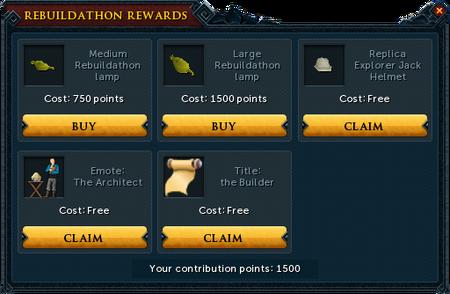Lumbridge Rebuildathon P2P rewards unlocked