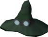 Runecrafter hat (green, goggles on) detail
