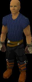 Bronze gauntlets equipped