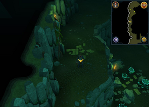 Scan clue Brimhaven Dungeon upper level centre of level