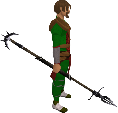 File:Lucky Zamorakian spear equipped.png
