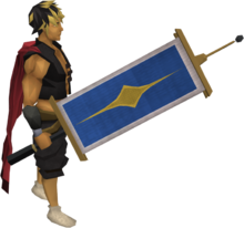 Saradomin flag equipped