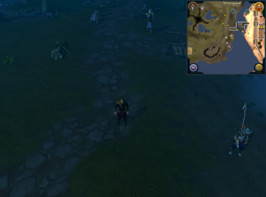 Compass clue Lumbridge north-east of south-west Lumbridge swamp mining site