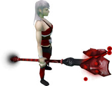 Augmented Staff of Sliske (blood) equipped