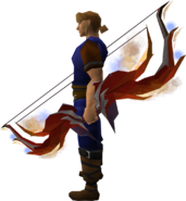 Firebrand bow equipped