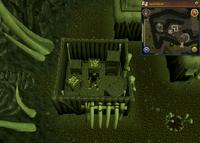 Cryptic clue house full of bones