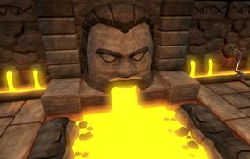 Lava statue