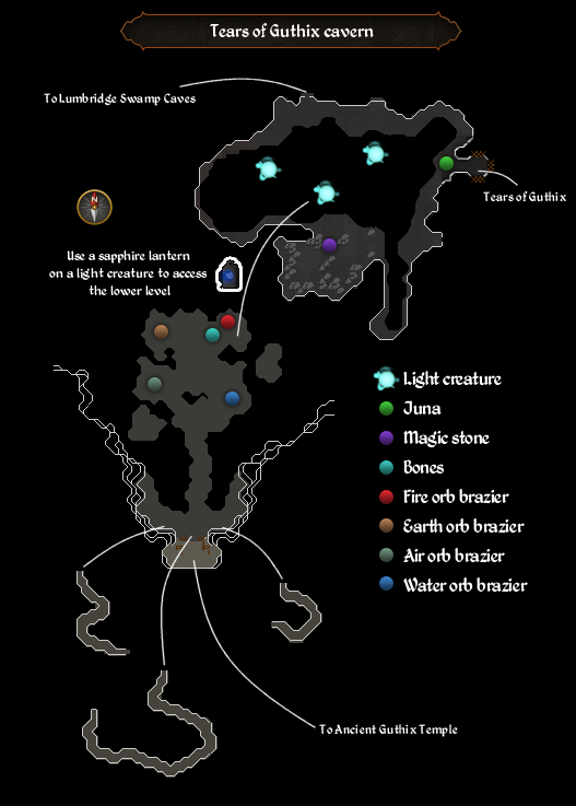 Tears of Guthix cavern map