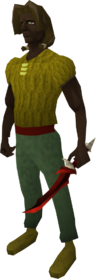Off-hand dragon dagger equipped