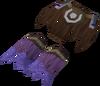 Samba loincloth (purple, male) detail