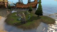 Water obelisk island