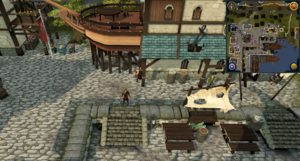 Compass clue Port Sarim east of Player-owned ports portal