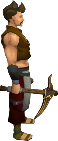 File:Gilded bronze pickaxe equipped.png