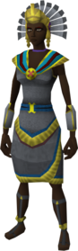 Feathered serpent outfit equipped (female)