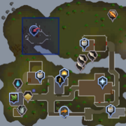 Entrana Dungeon entrance location