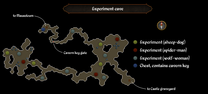 Experiment cave map