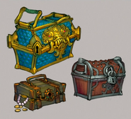 Uncharted Isles treasure chests concept art