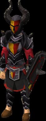 Black heraldic armour set 5 (sk) equipped