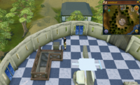 Cryptic clue Observatory crate