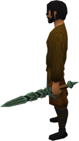 Off-hand adamant longsword equipped