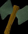 Adamant thrownaxe detail old