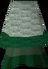 Green elegant skirt detail