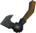 Off-hand iron throwing axe detail
